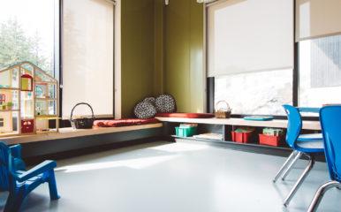 St David school, classroom, Mondo Contract Flooring