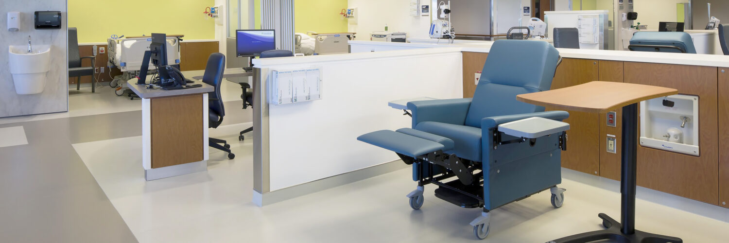 rubber flooring in dialysis clinic