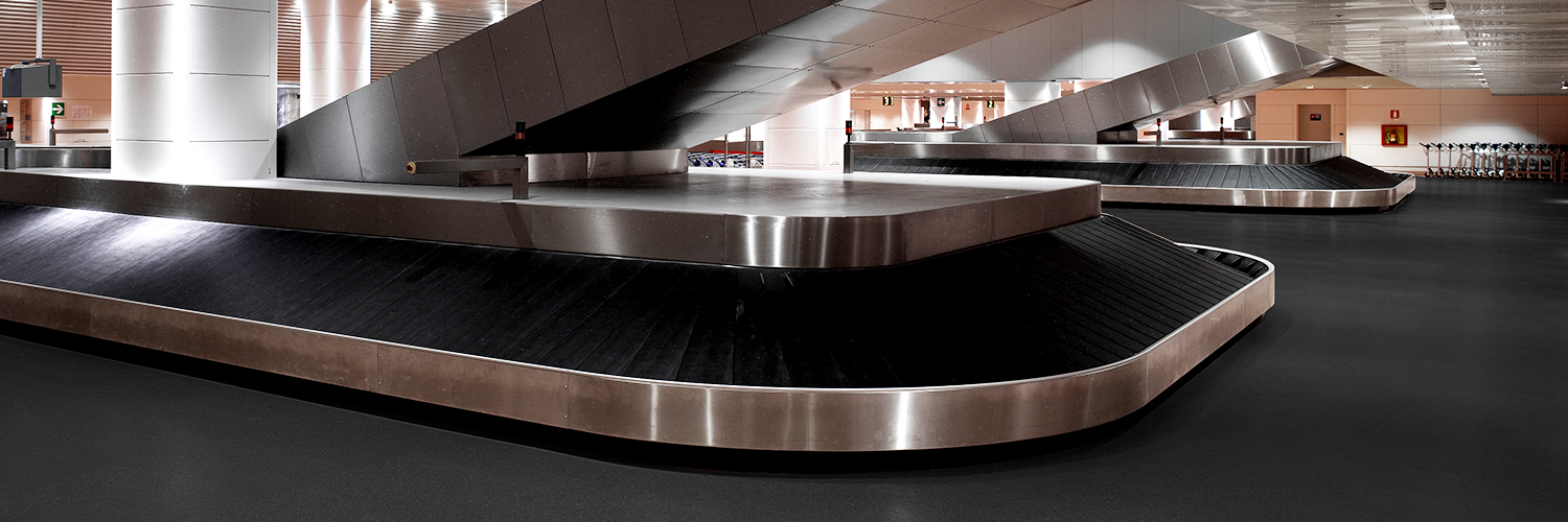 rubber flooring in airport baggage claim