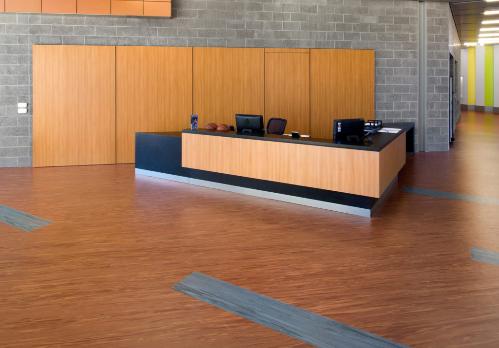 rubber flooring for reception areas