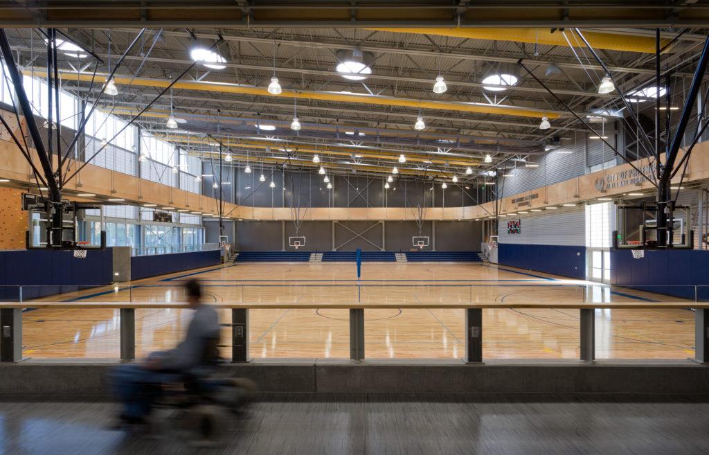 Rubber flooring for basketball court