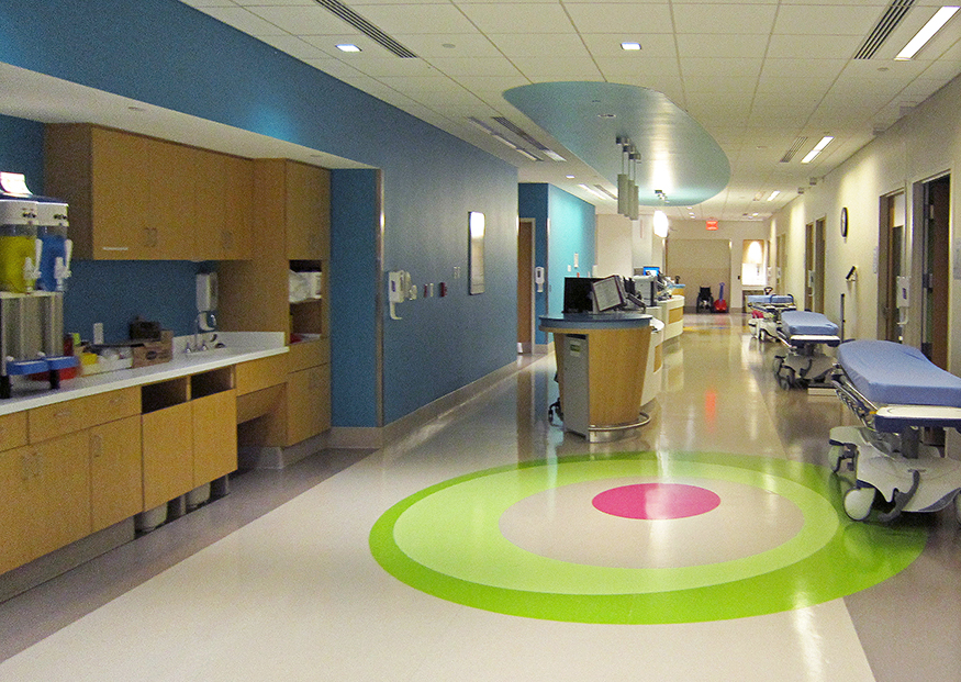 Rubber Flooring for pediatrician waiting area