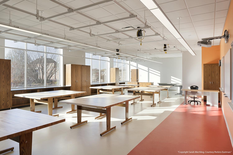 Rubber Flooring in Art Classroom