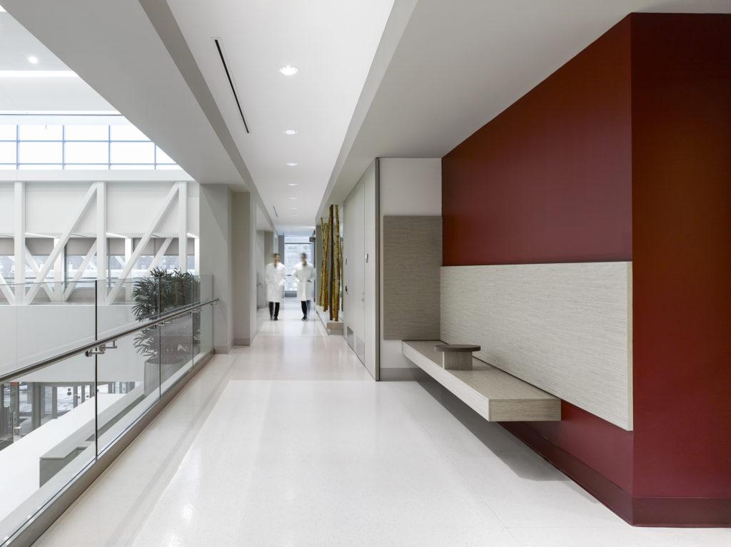 rubber flooring in hospital walkway