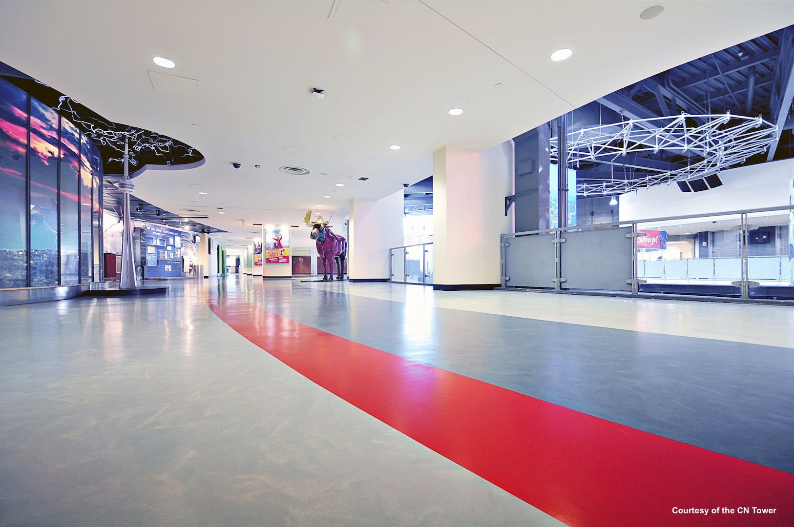rubber flooring for retail centers