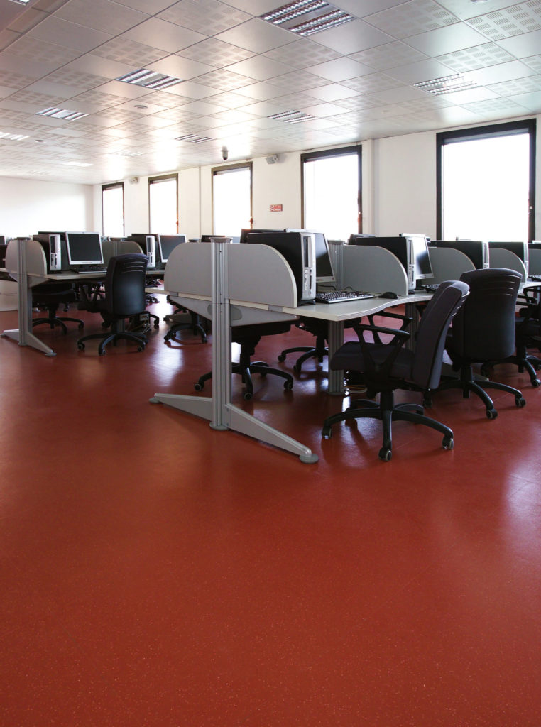rubber flooring for higher education classrooms