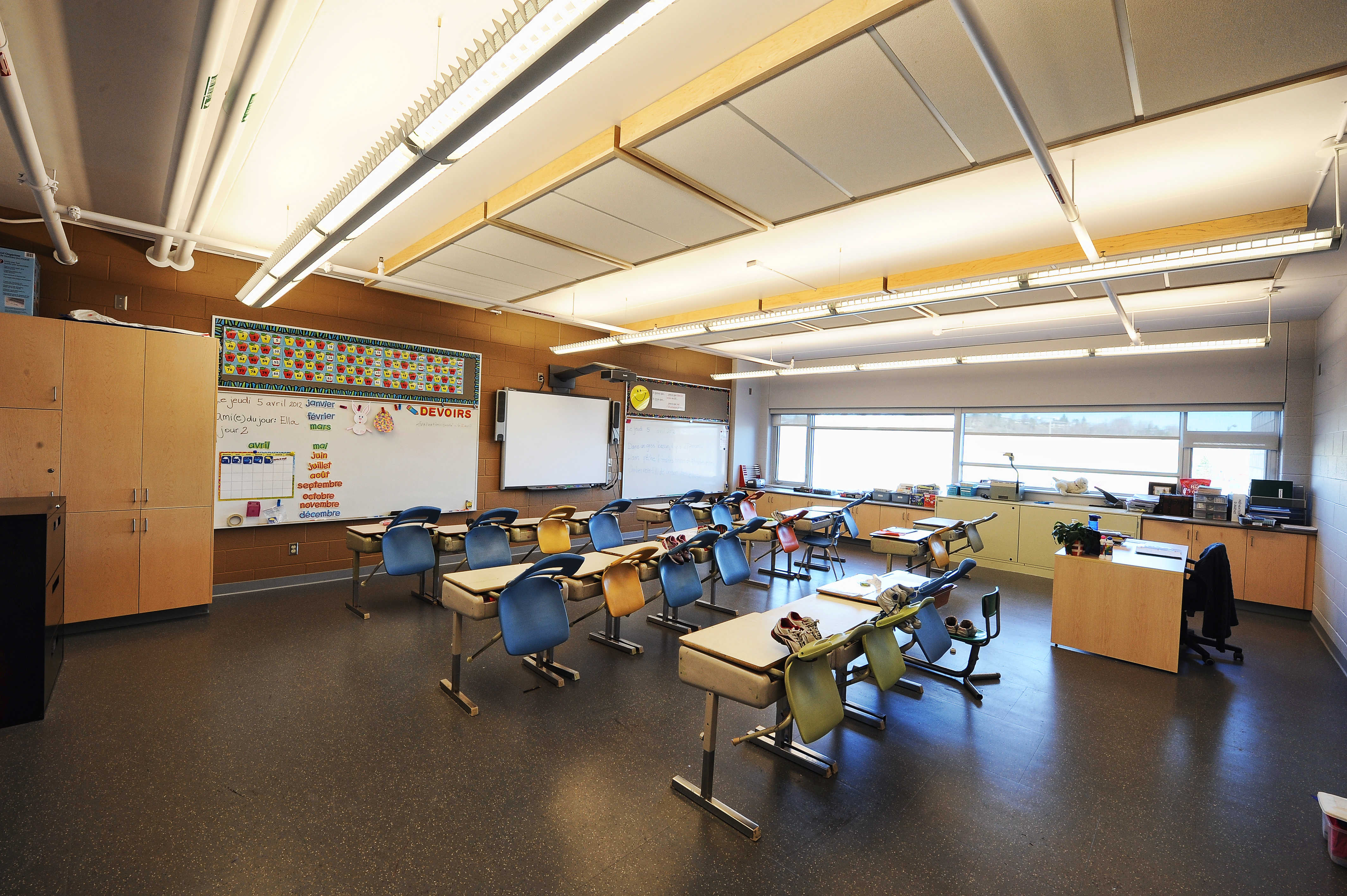 Ecole St. Denis rubber flooring for primary schools