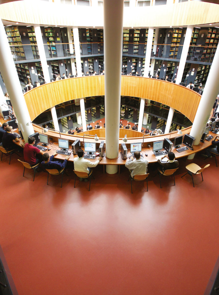 rubber flooring for libraries