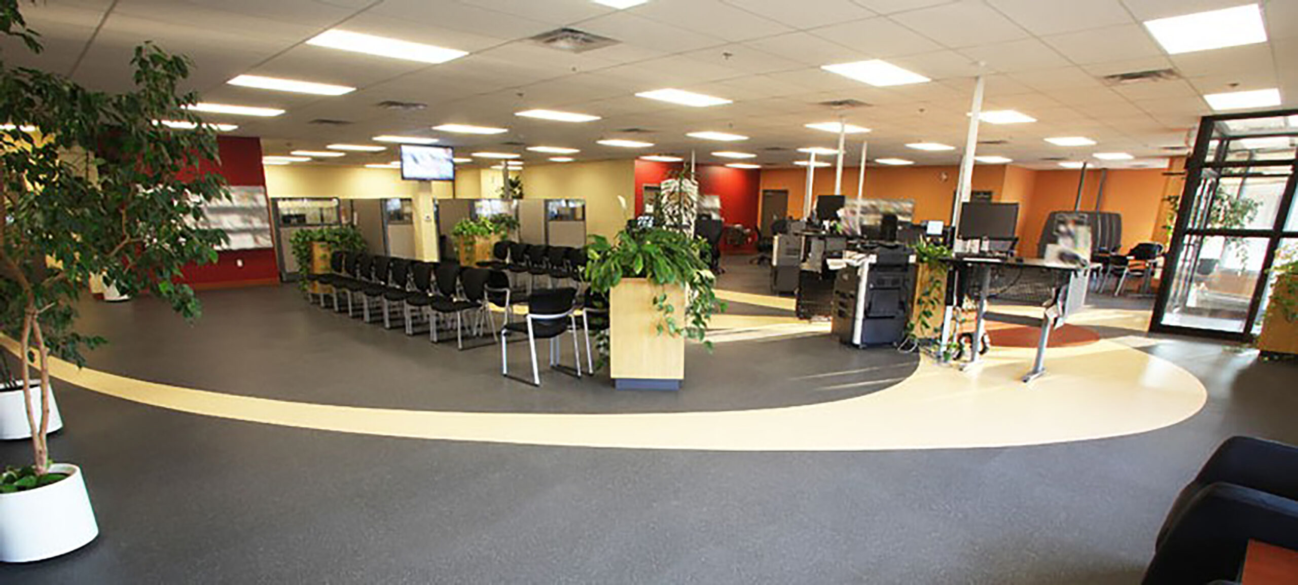 Open Concept Canadian Government Office.