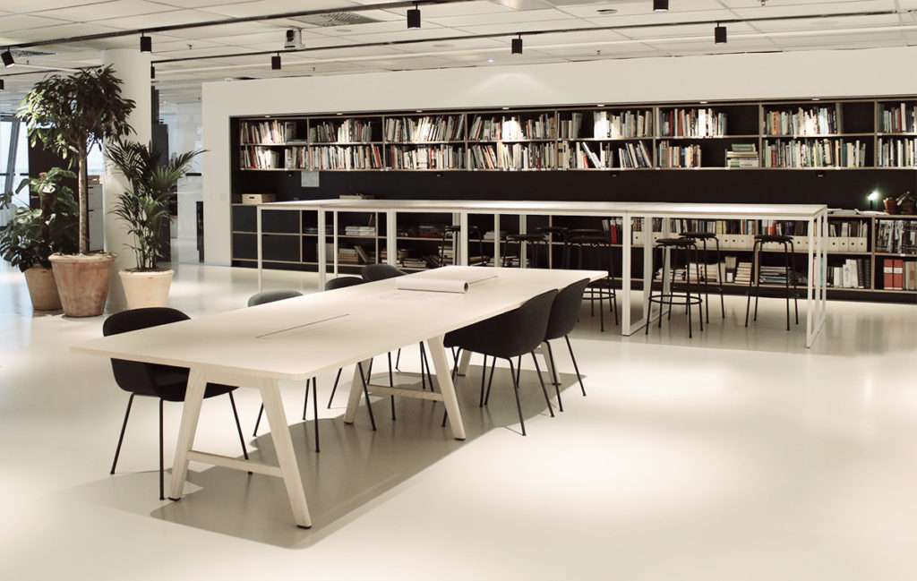 Area With Long Table Tengbom Arkitekter