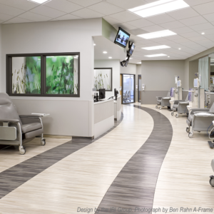 rubber flooring in dialysis treatment area