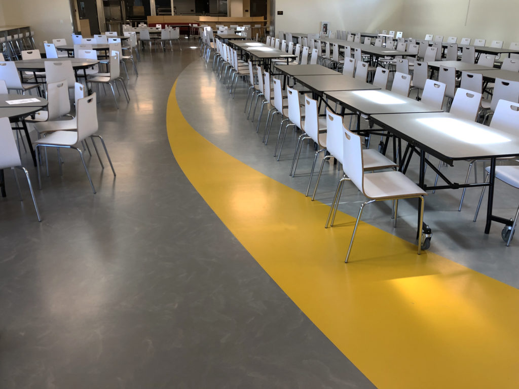 rubber flooring for high school cafeteria