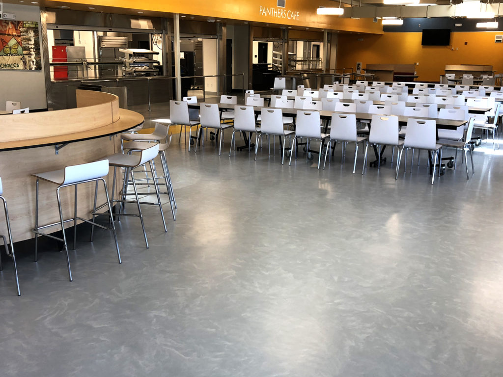 rubber flooring for Antioch high school cafeteria