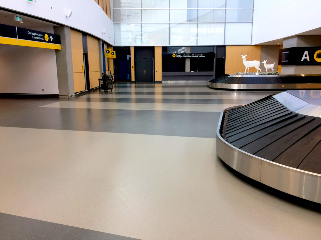Quebec City Airport Baggage Claim Rubber Flooring