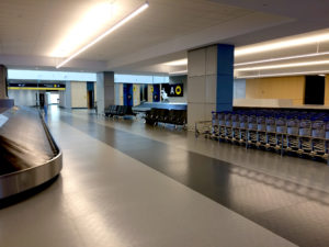 Rubber Flooring Project in Quebec City Airport