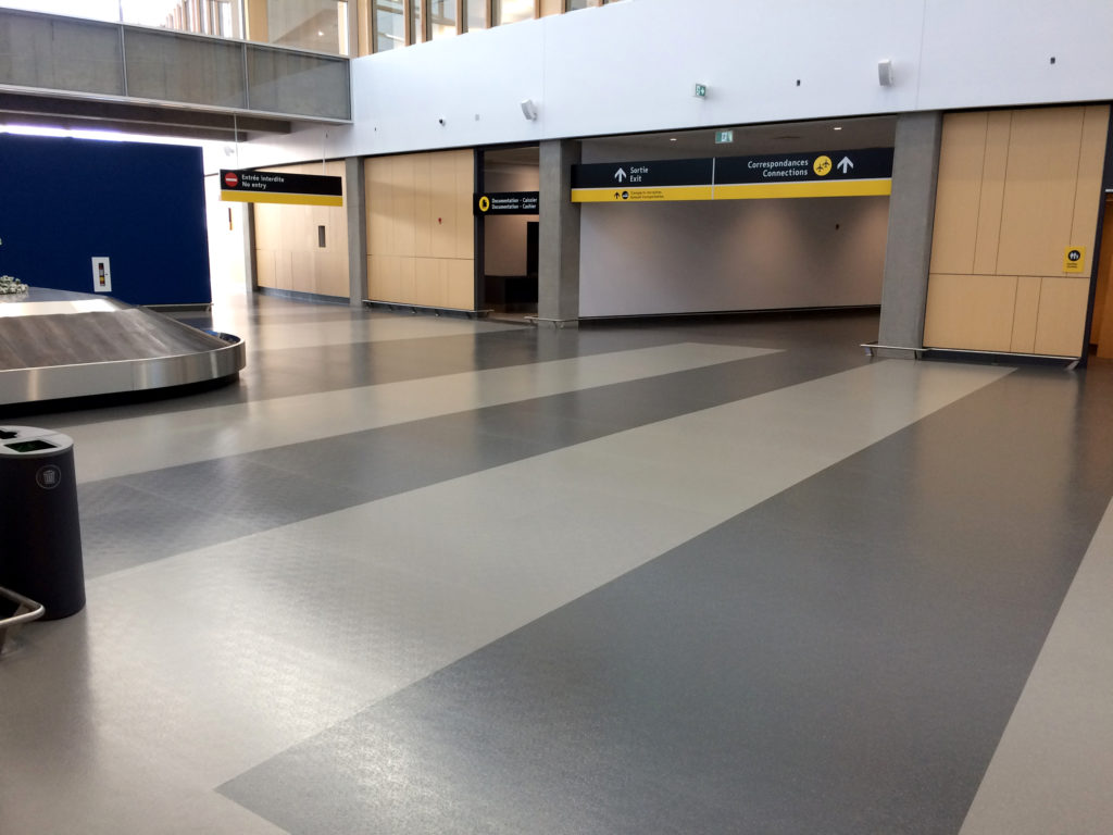 Entrance To Baggage Claim at Quebec City Airport