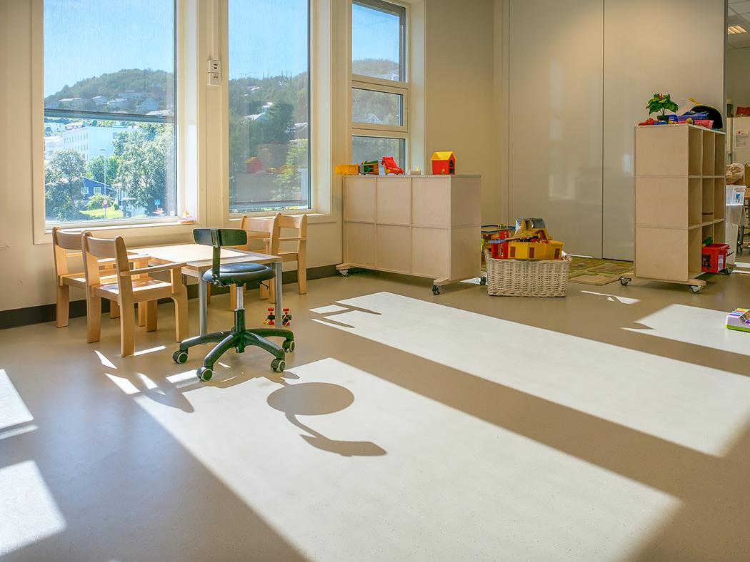 Kindergarten rubber flooring in Norway